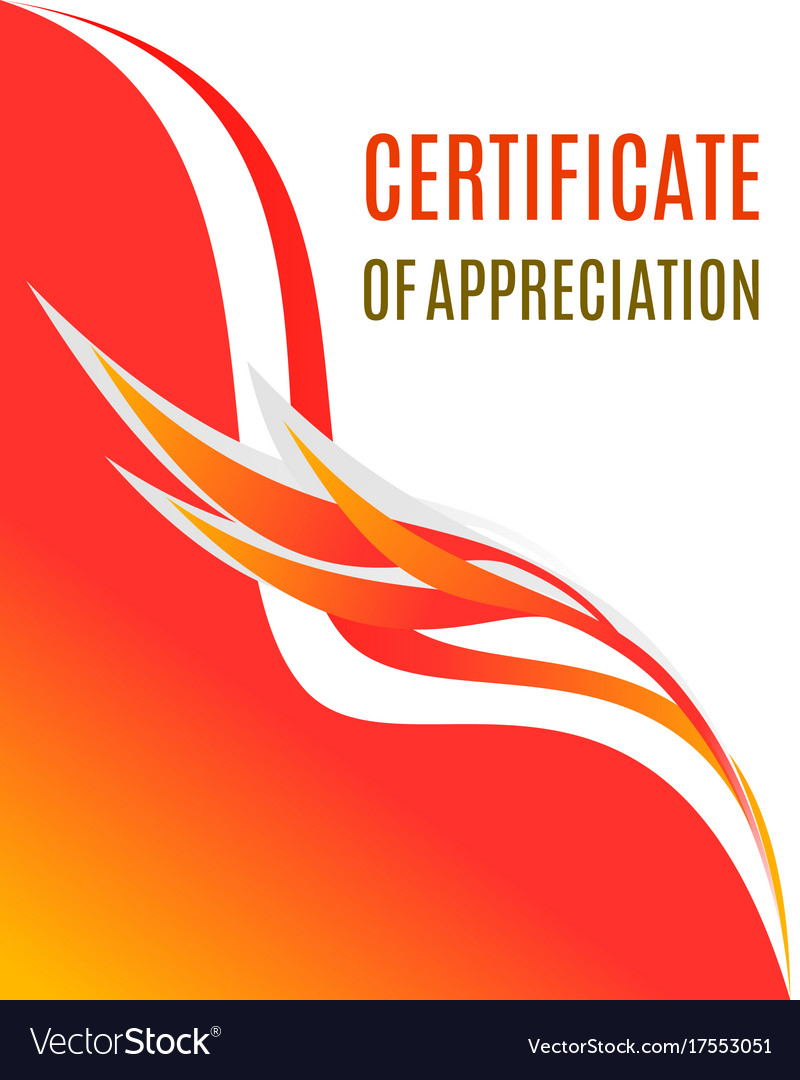Certificate of appreciation design vector image