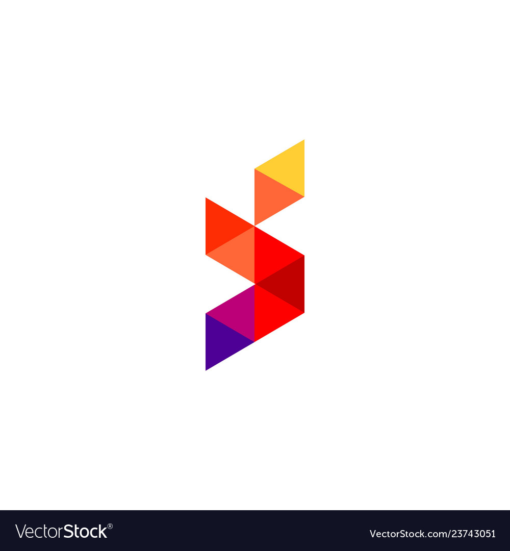 Polygon letter s icon logo