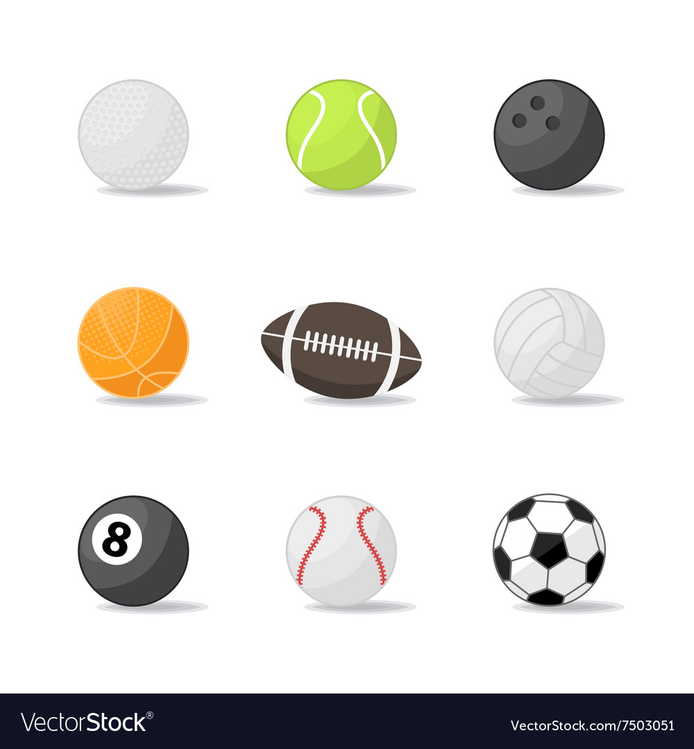 Sport balls icons
