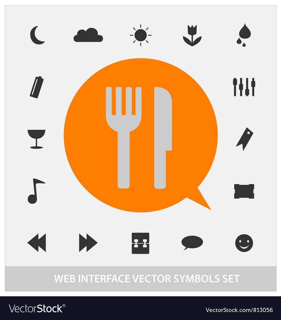 Abstract web interface symbols set
