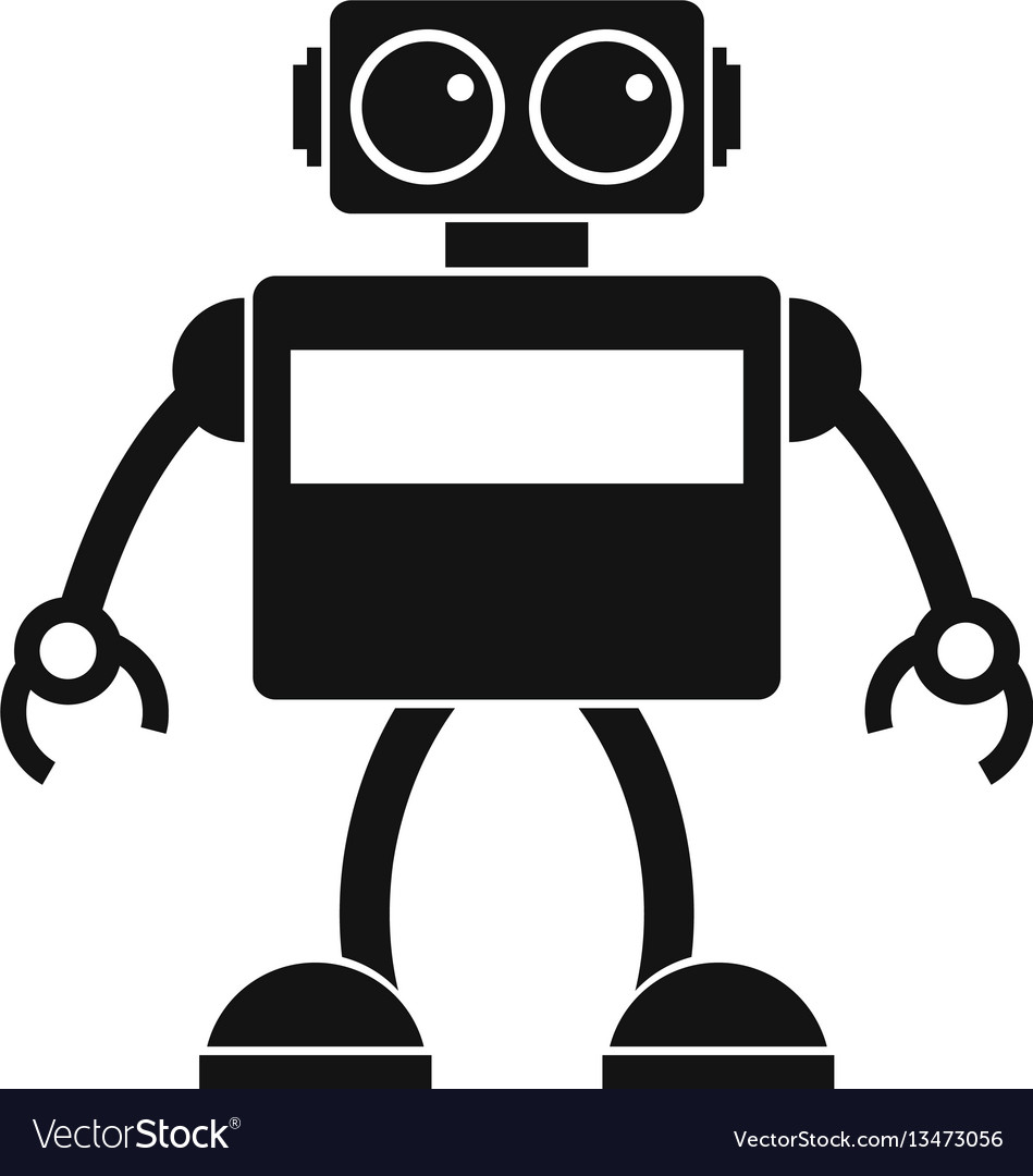 Android robot icon simple style