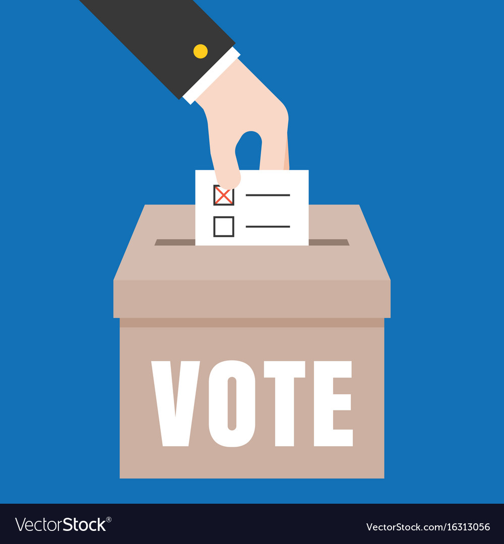 Business hand vote for election Royalty Free Vector Image