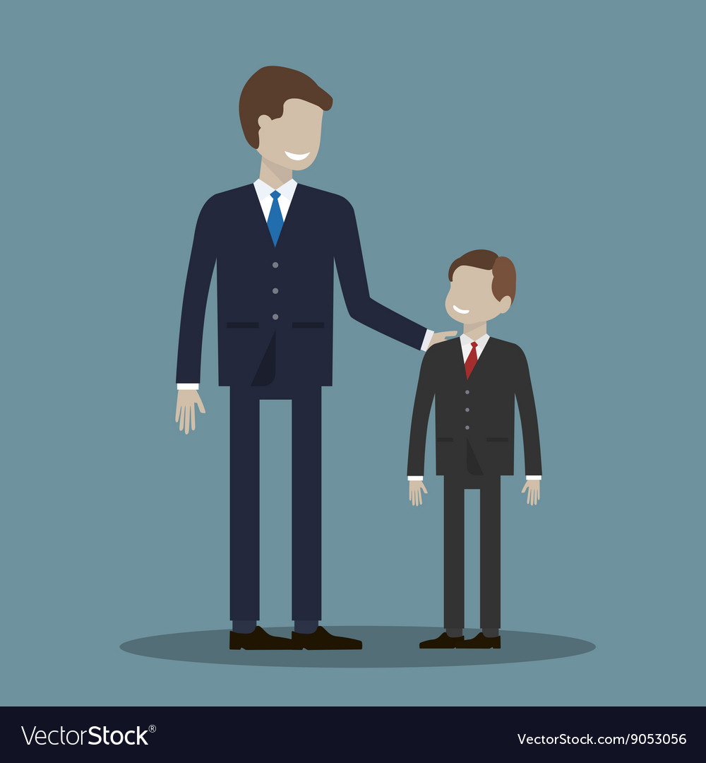 Businessman and Boy vector image
