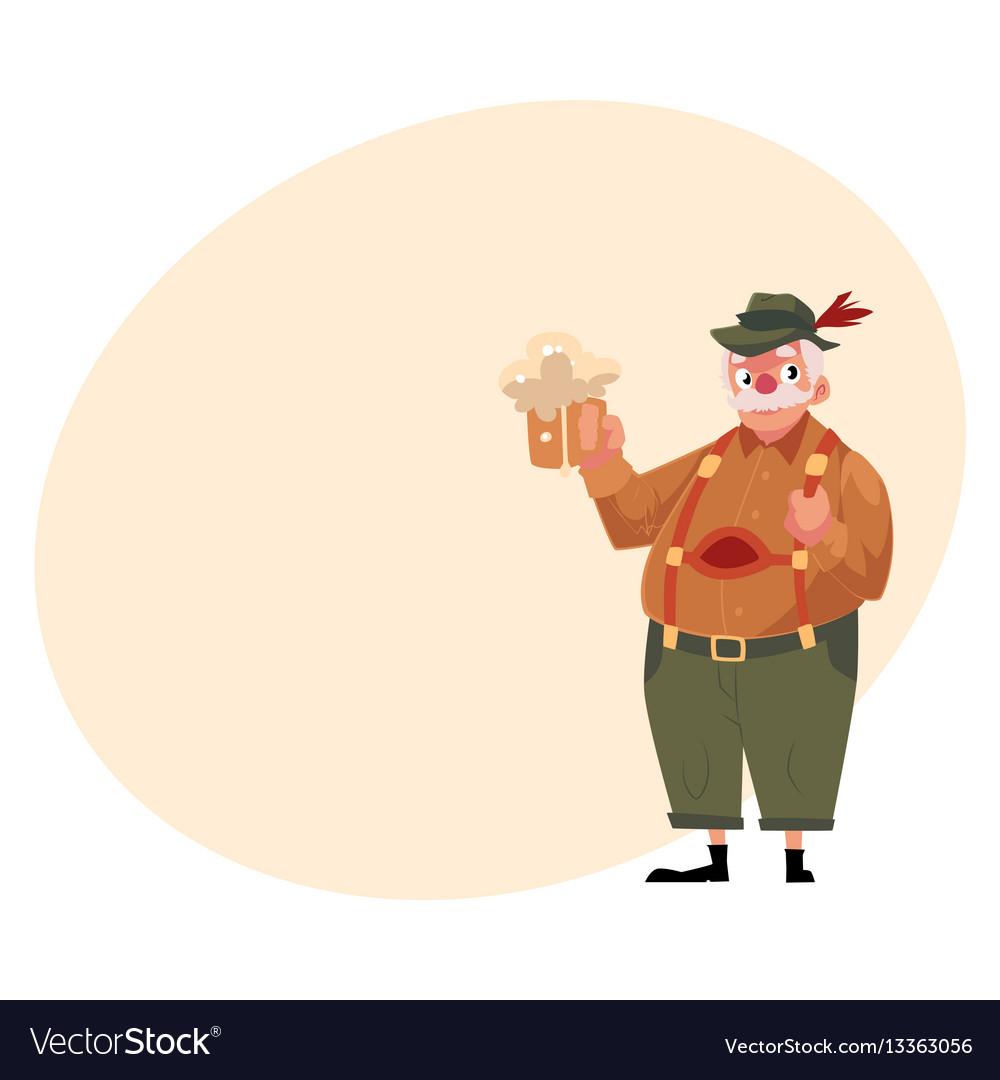 Elder man in traditional german bavarian