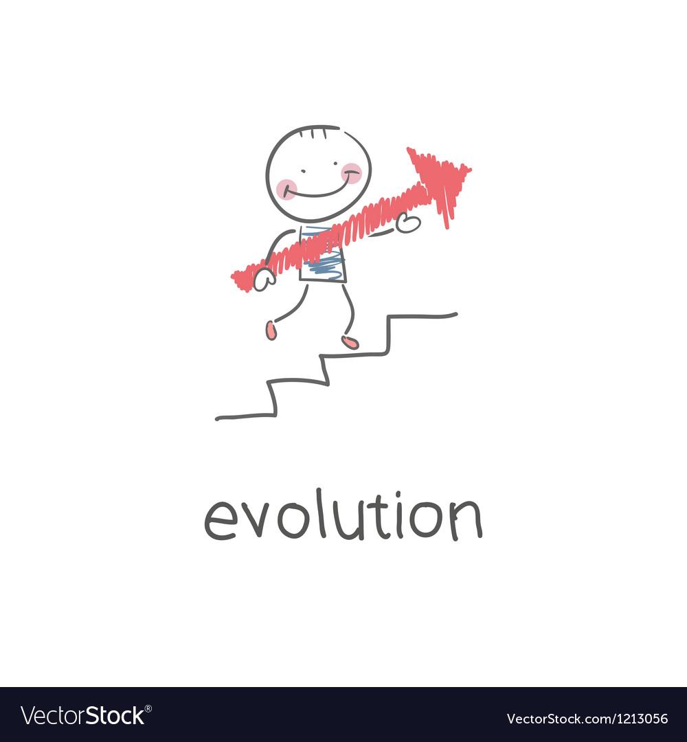 Evolution career vector image