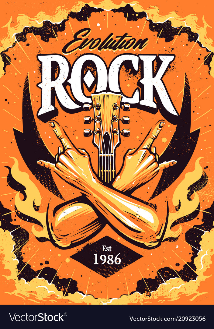 Rock poster design template