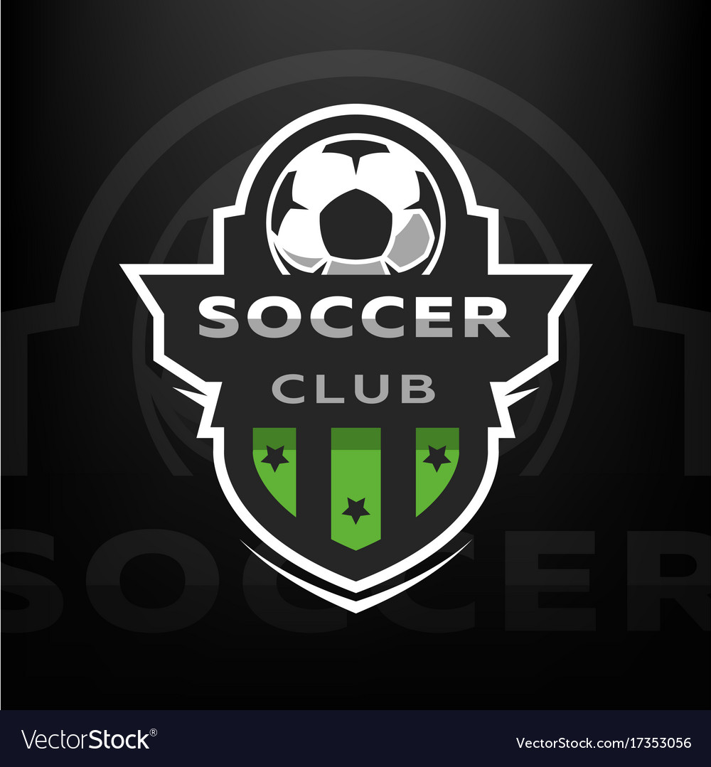 soccer club sport logo royalty free vector image