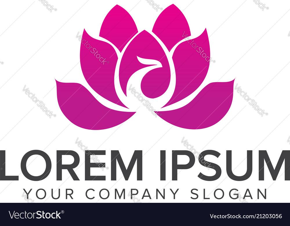 Spa esthetics logo design concept template