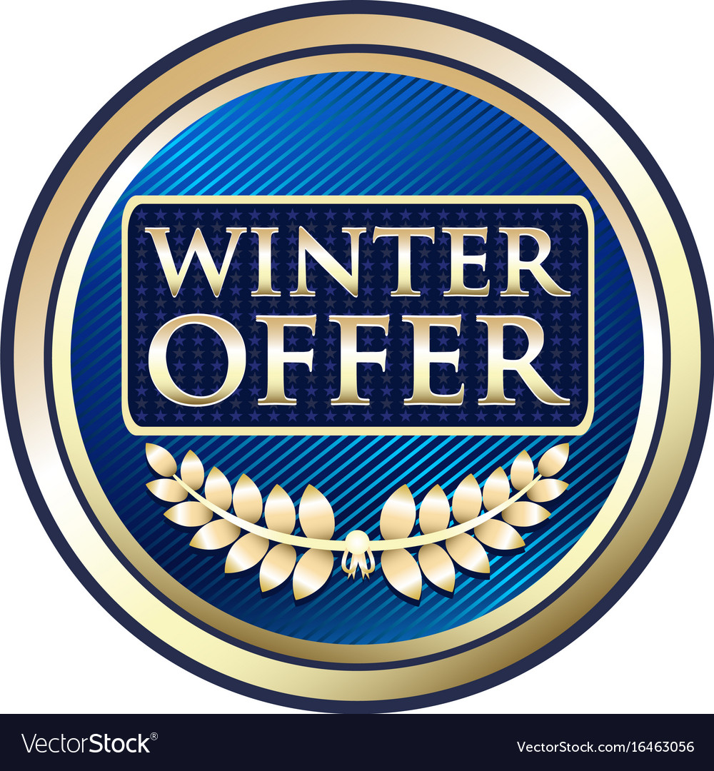 Winter offer icon