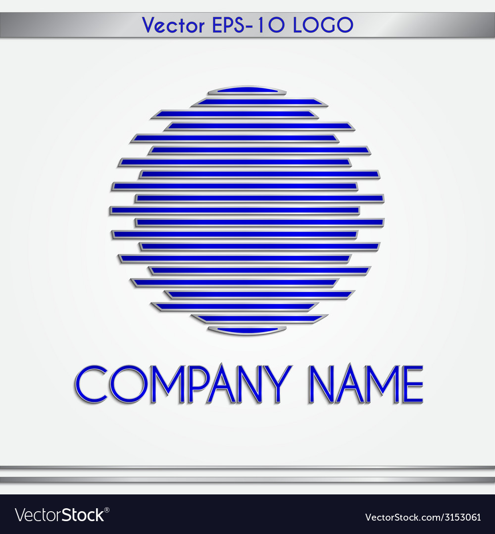 Abstract company name blue and silver round logo