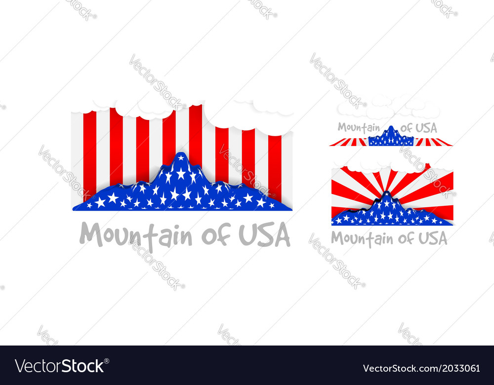 American mountain as the United States flag