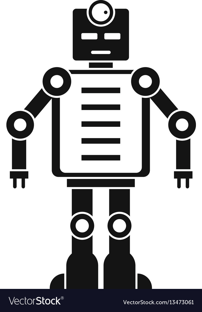 Artificial intelligence robot icon simple style