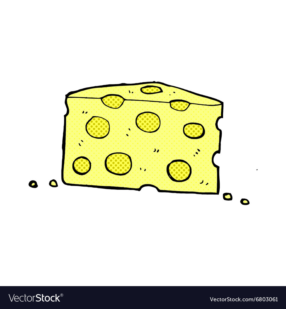 Comic cartoon cheese