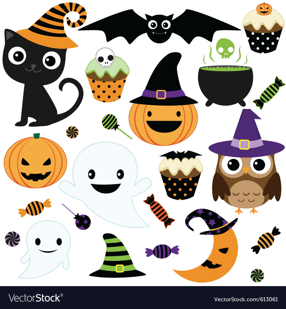 cute halloween party royalty free vector image