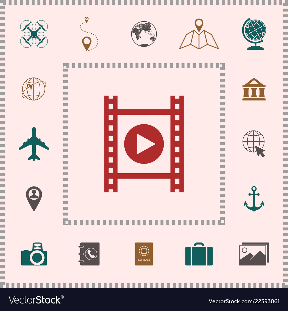 Film strip with play elements for your design
