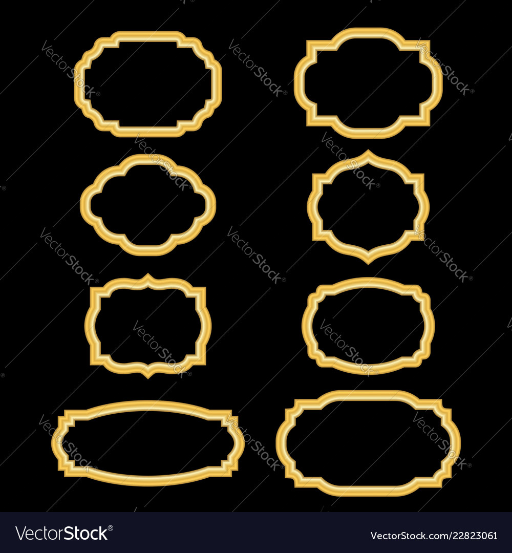 Gold frames simple golden style