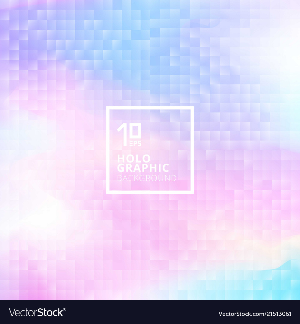 Holographic background with mosaic texture