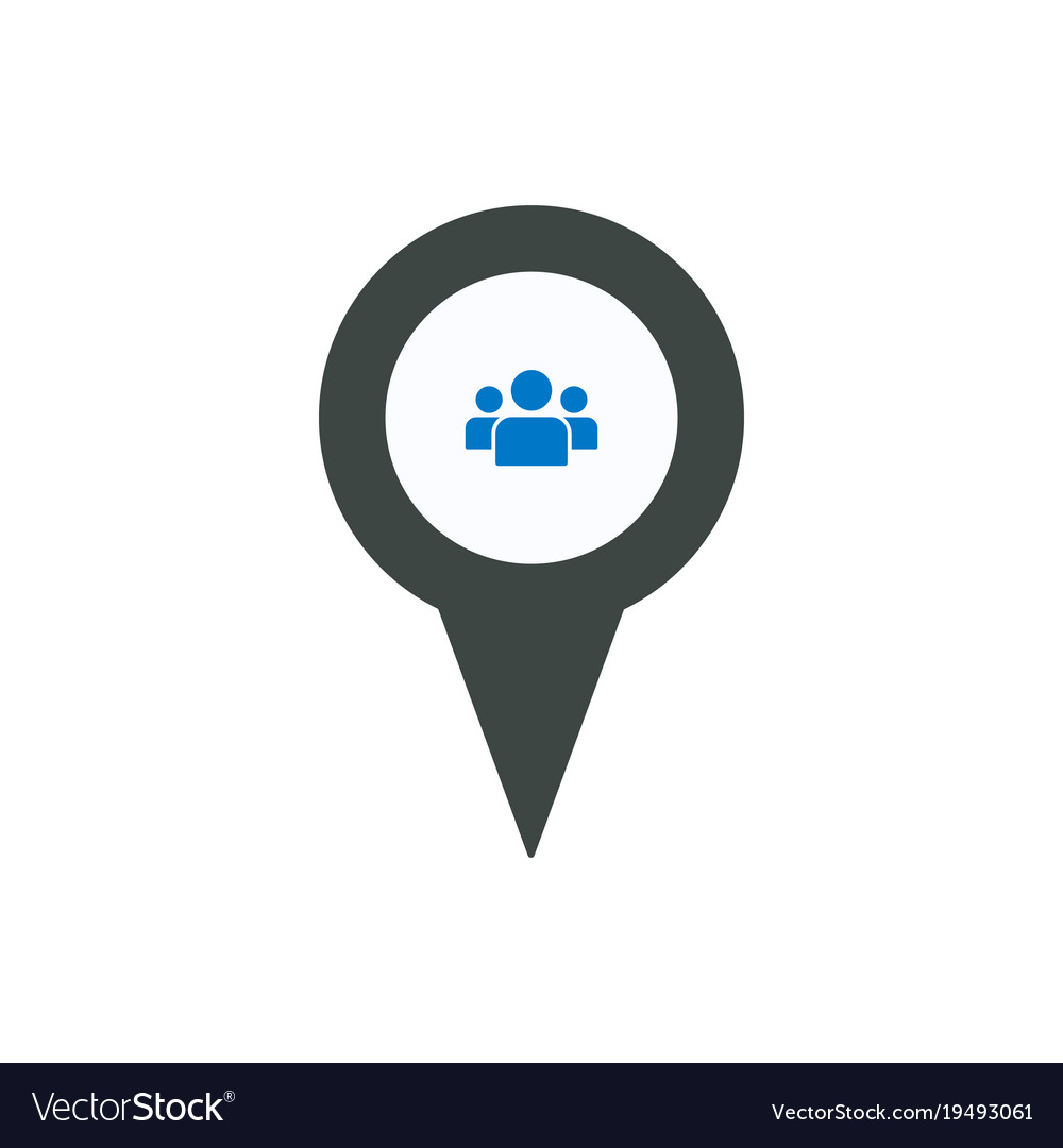 7831a51171 Location man person pin place point user icon Vector Image