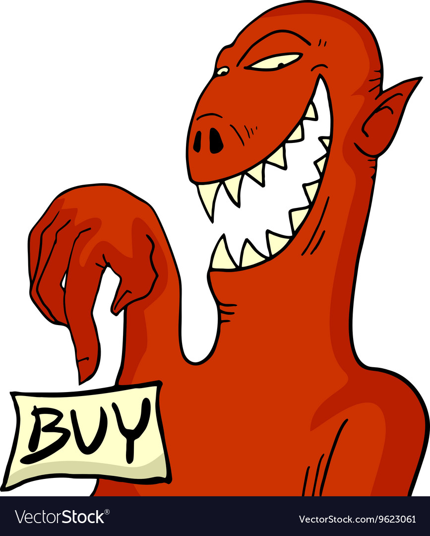 Monster with buy message