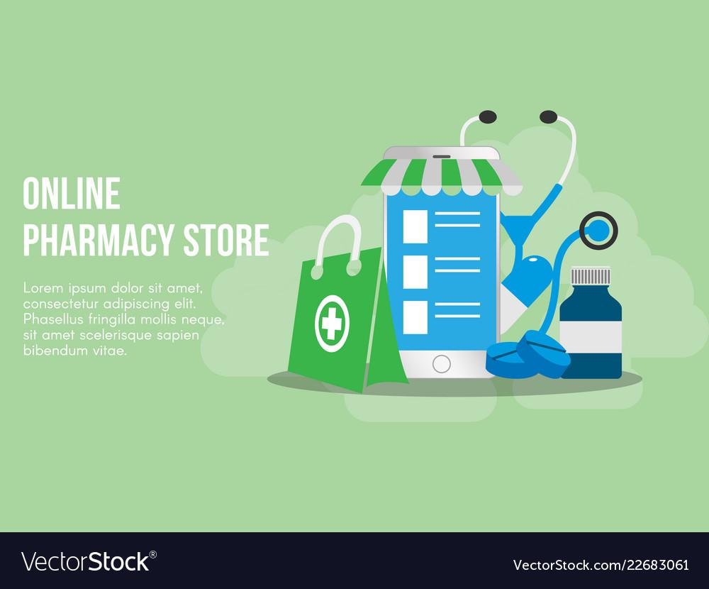Online pharmacy concept design template