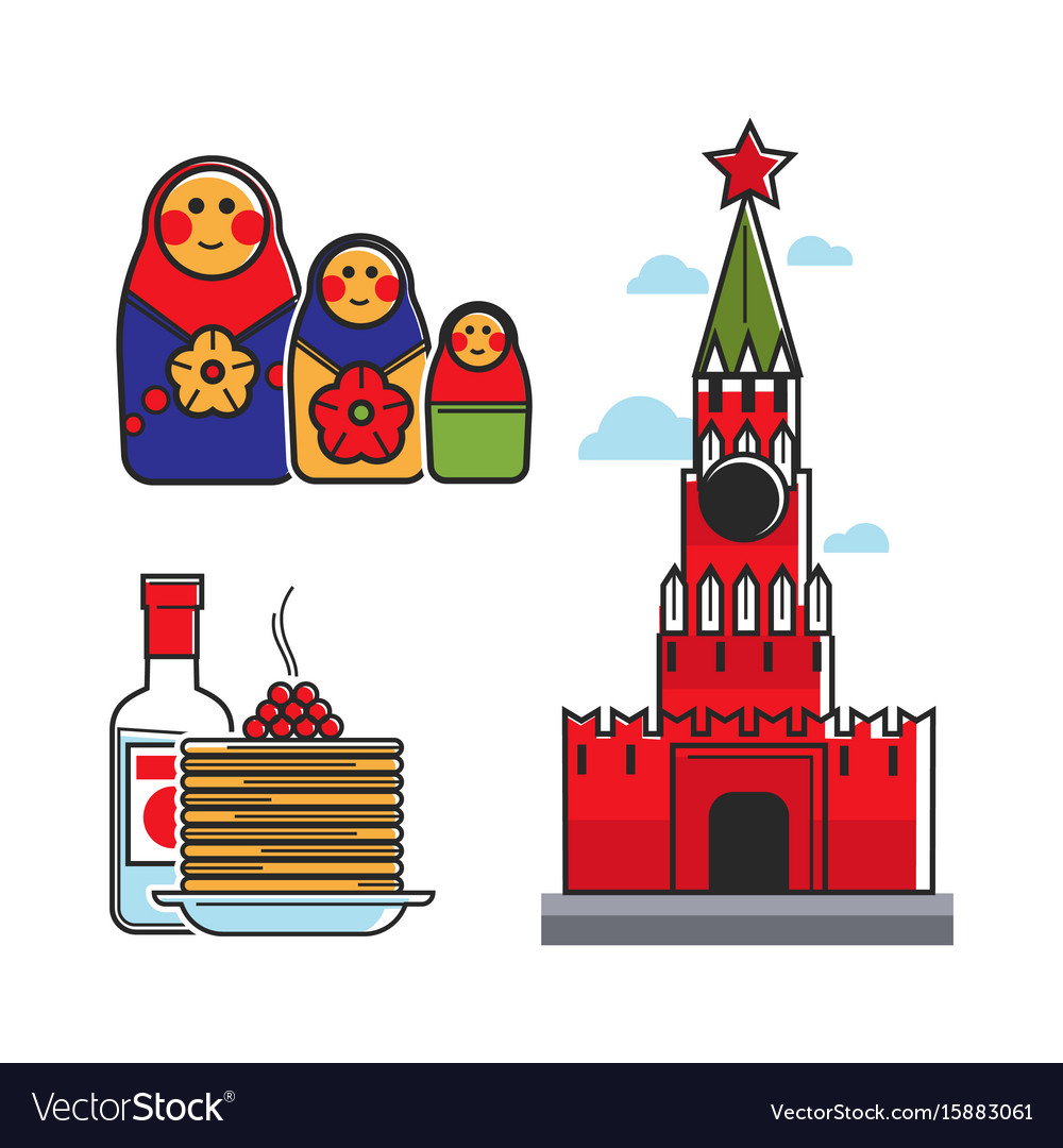 Russia Soviet Union Symbols For Ussr Russian Vector Image