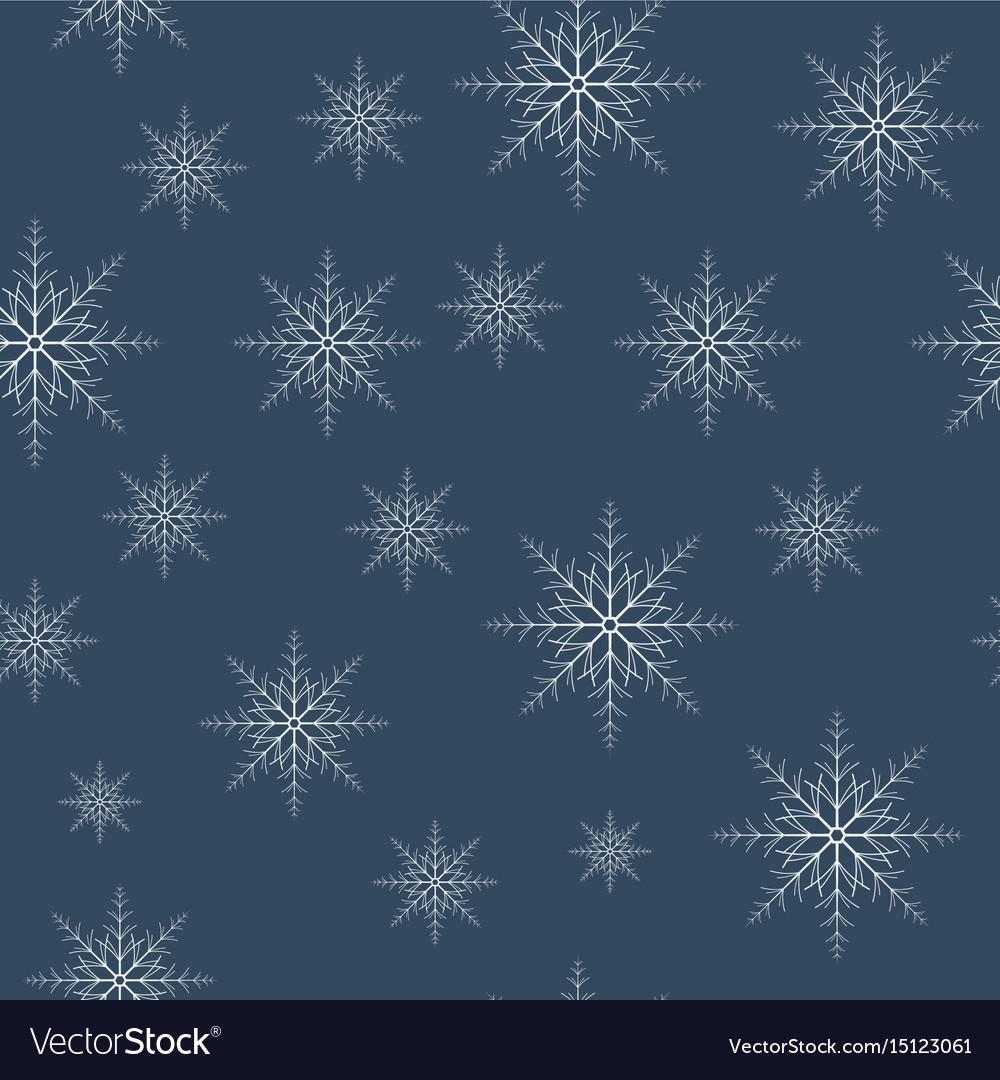 Seamless snowflakes pattern eps10
