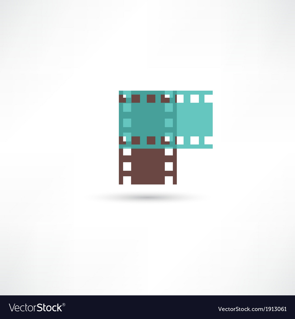 Two film frame vector image