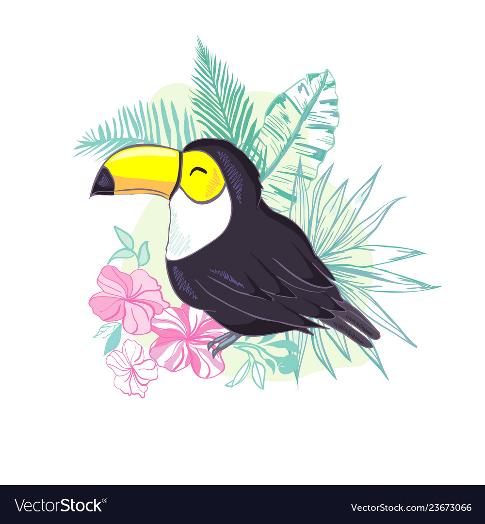 An of a nice toucan in format a cute toucan bird