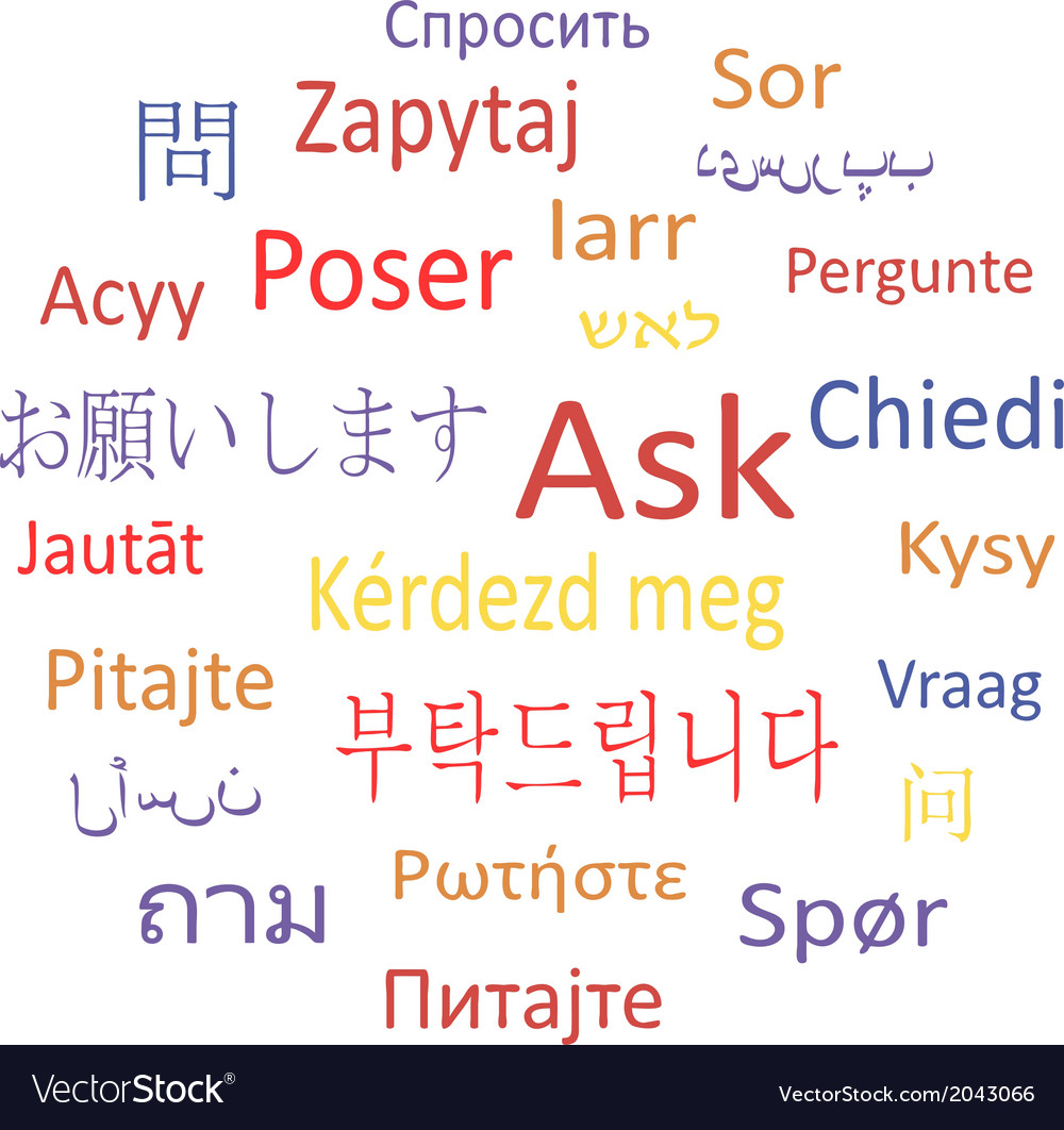 Ask in different languages