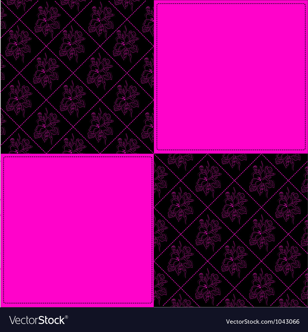 Black and pink vector image