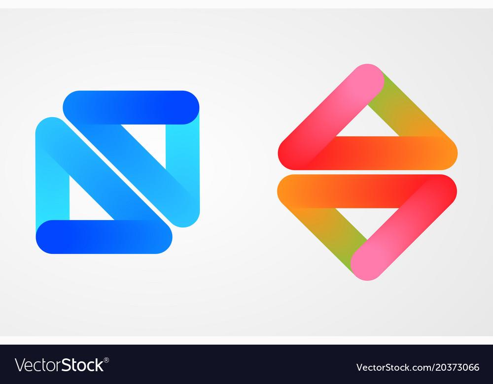 Blend glossy logo design