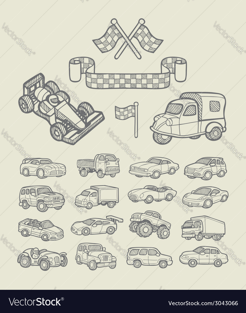 Car icons sketch