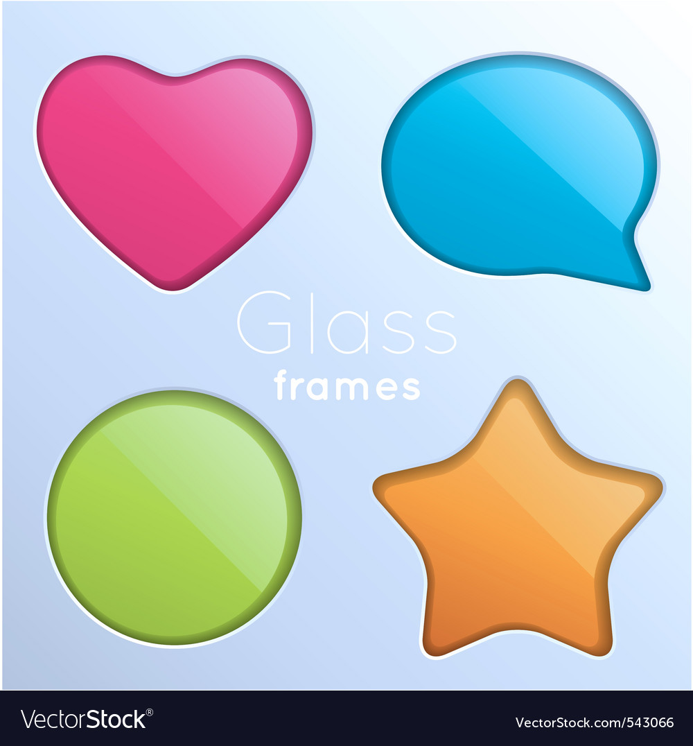 Cutout frame set vector image