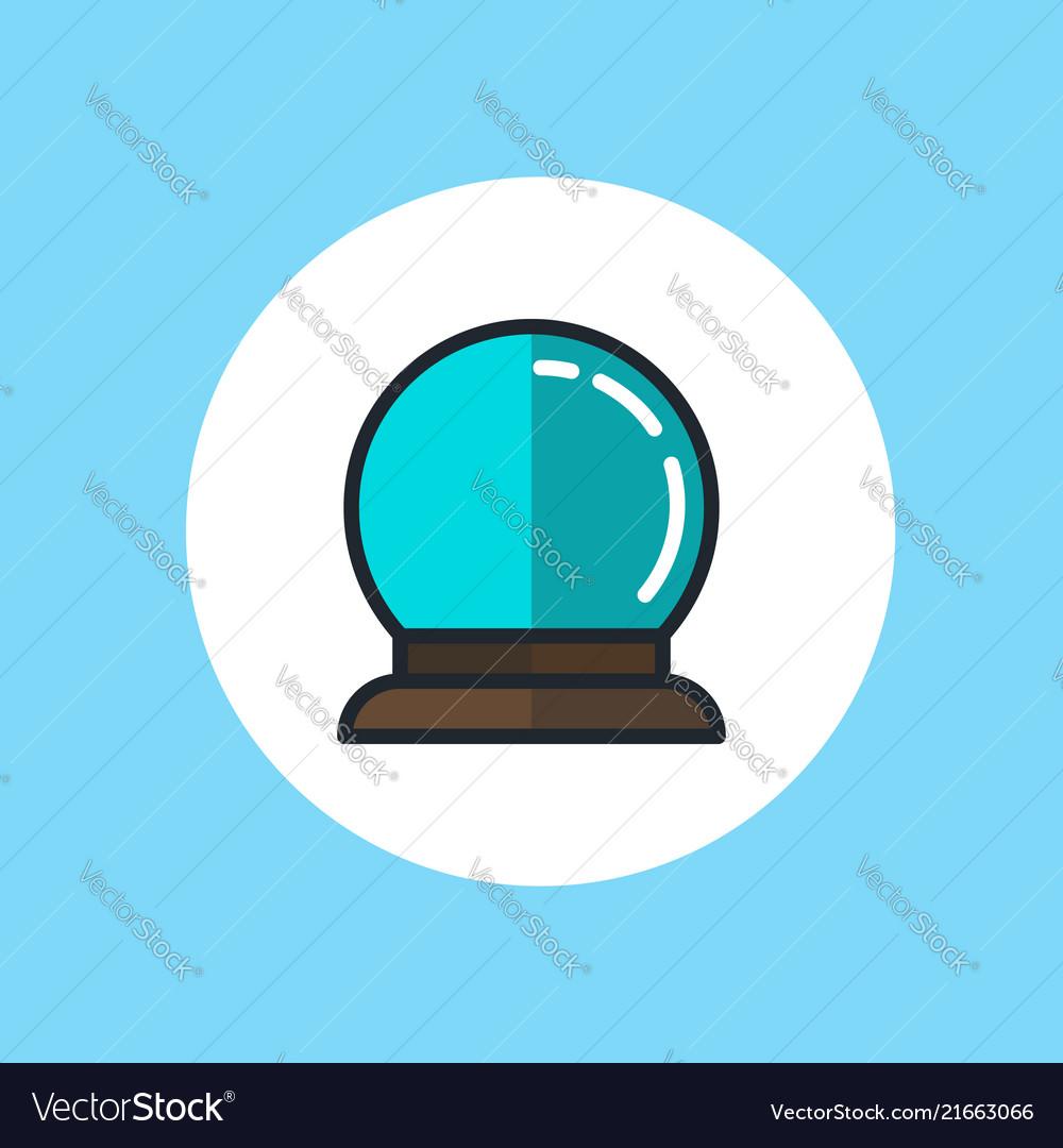 Cyrstal ball icon sign symbol