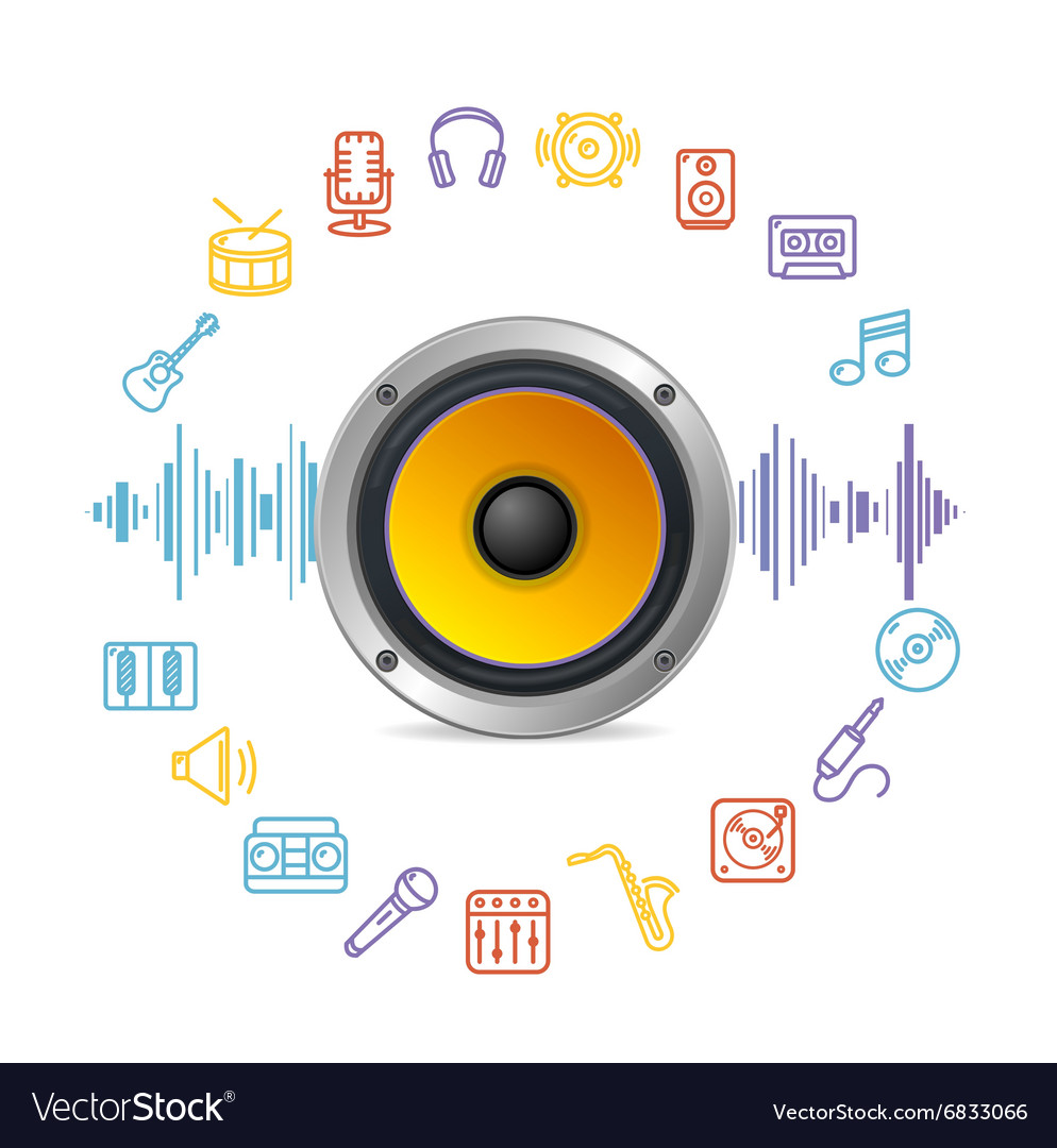 Music Icon Concept vector image