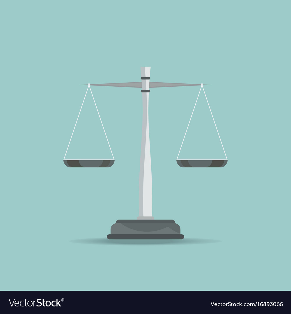 Scales of justice icon on blue background vector image