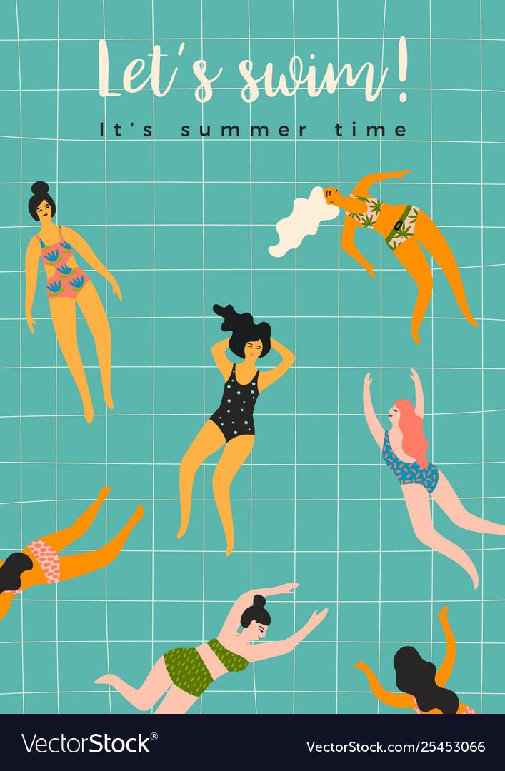 Swimming women design