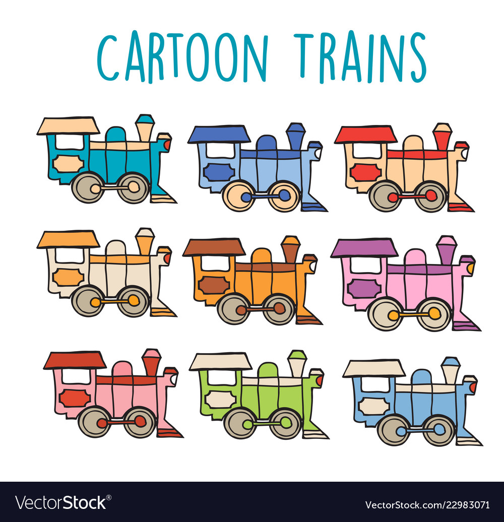 Cartoon locomotive retro