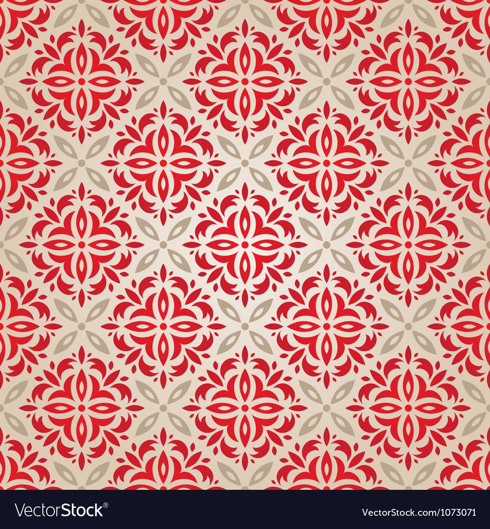 Red vintage wallpaper vector image