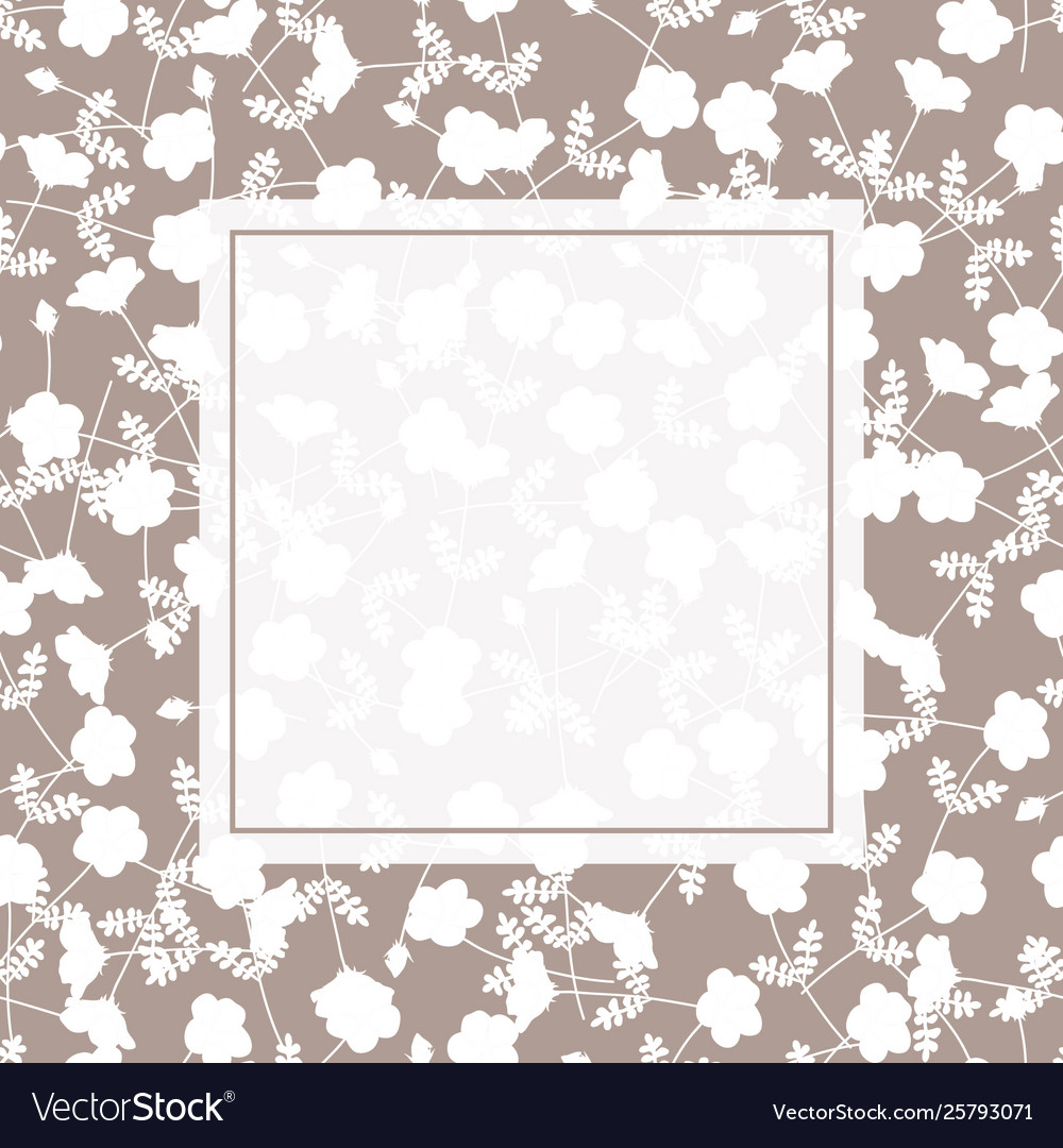 White flower banner on light brown background