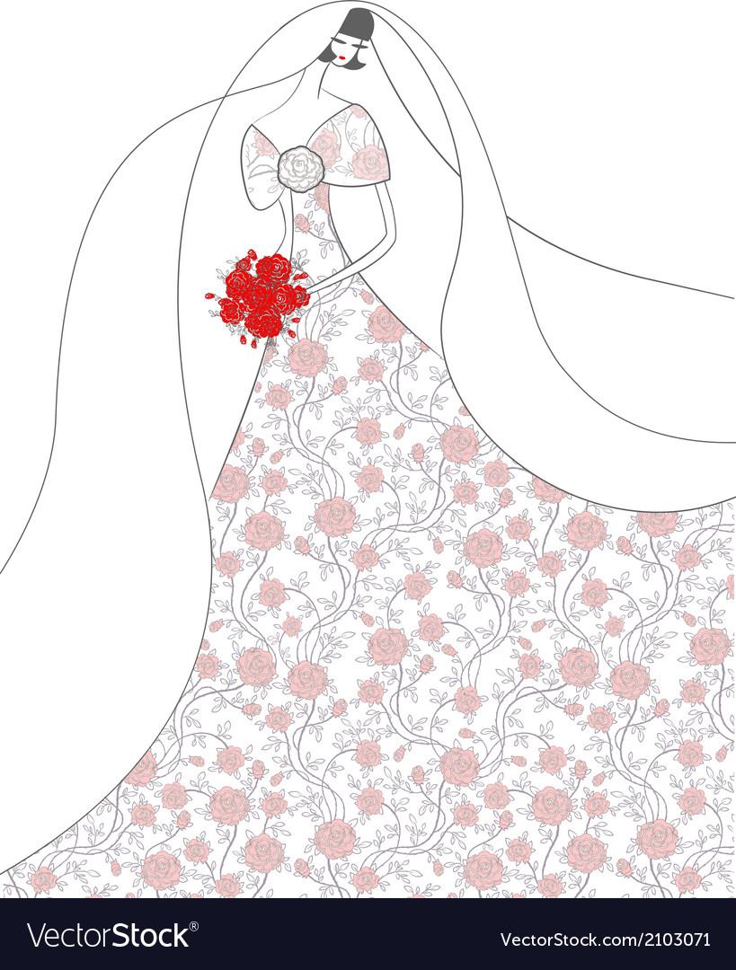 Young elegant bride