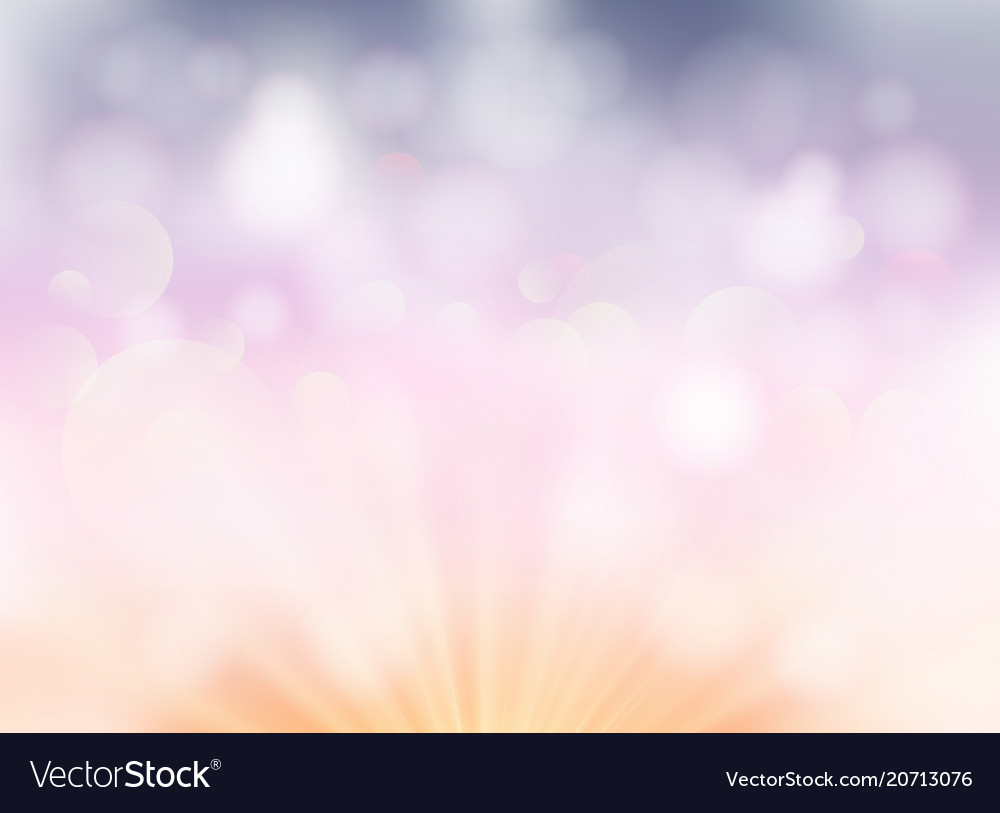 Abstract soft light bokeh pastel color background vector image
