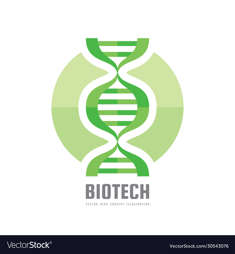 Dna biotechnology - logo template concept