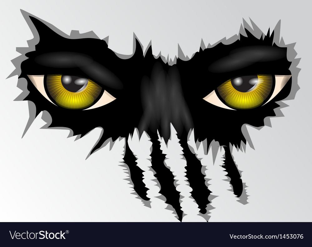 Eyes look vector image