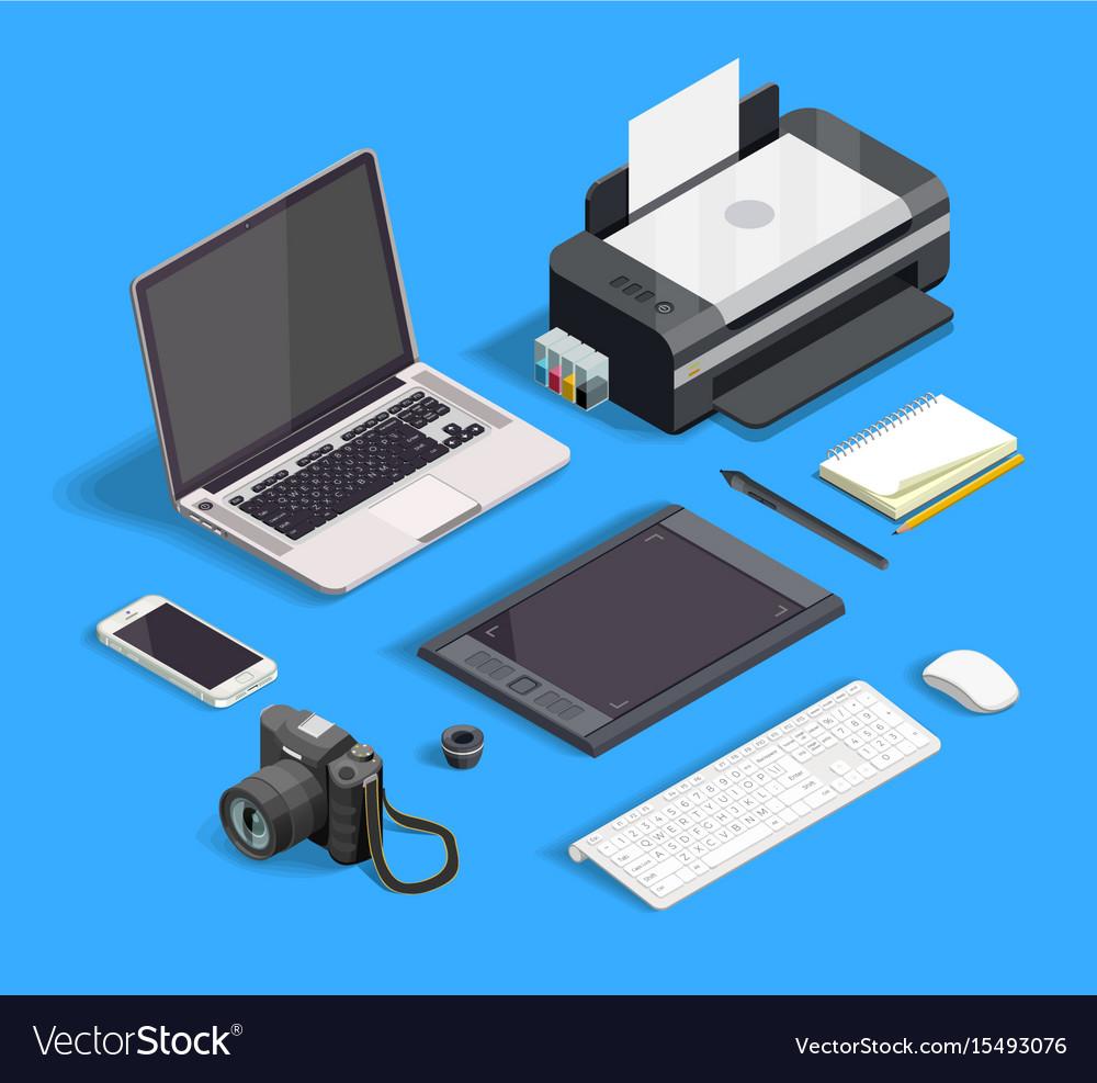 Graphic design set vector image