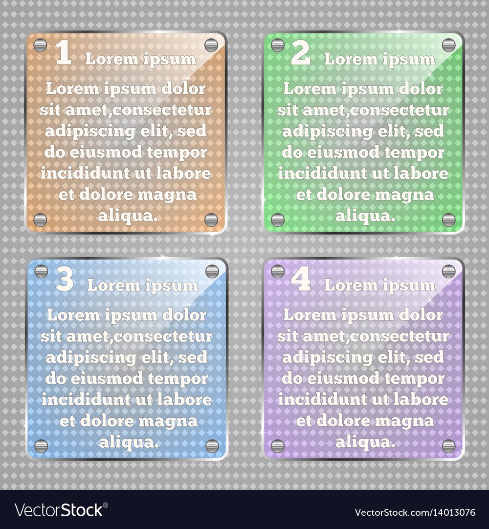 Infographic template glassy square