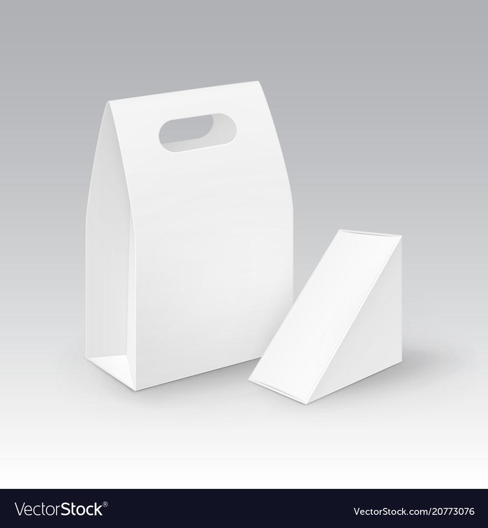 Set of white blank cardboard rectangle