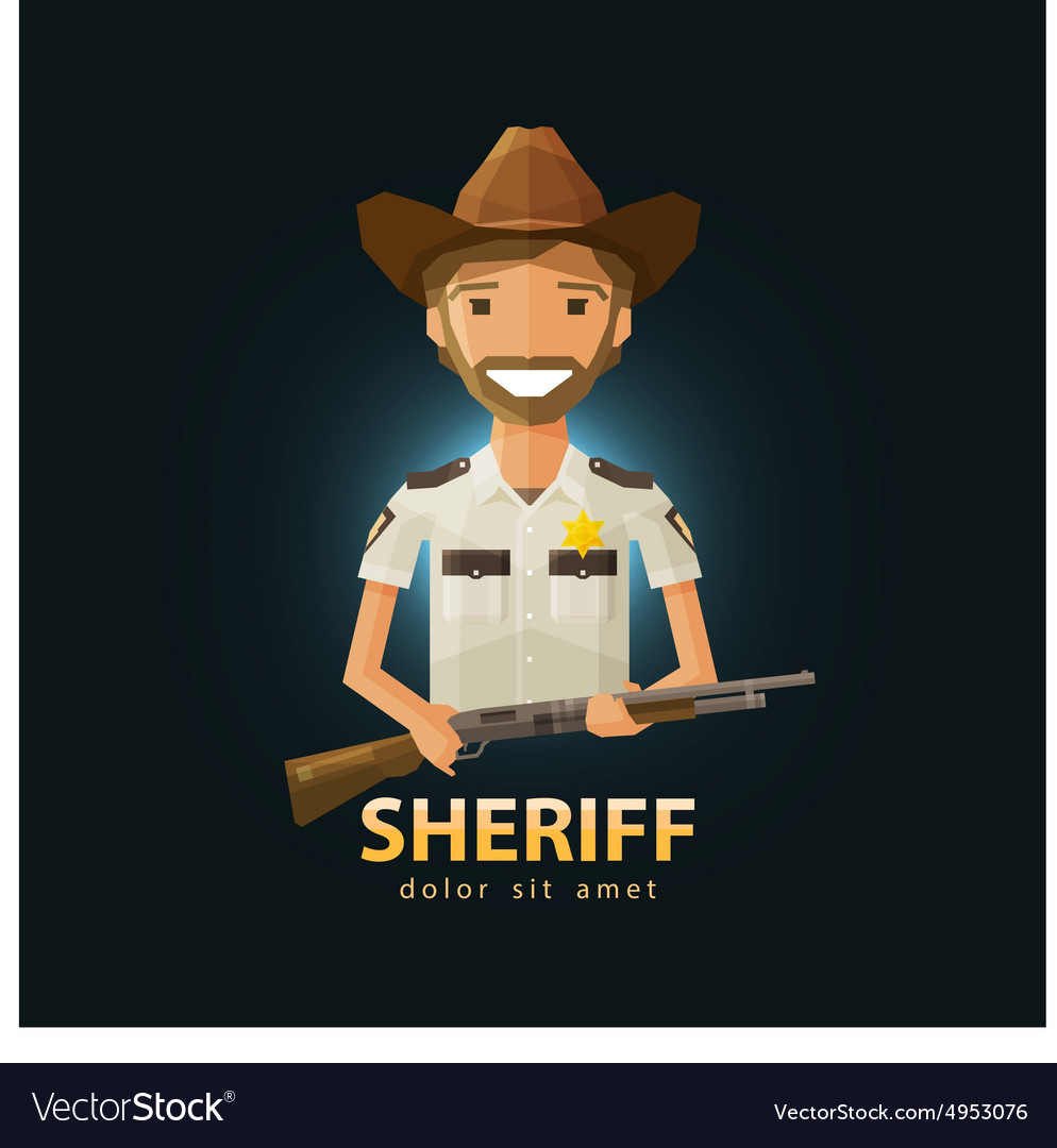 Sheriff logo design template police LAPD vector image