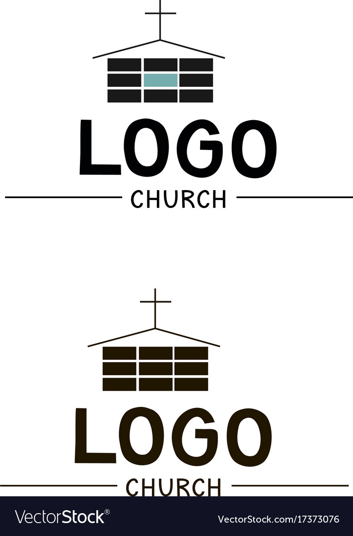 The church logo with a cross and a building