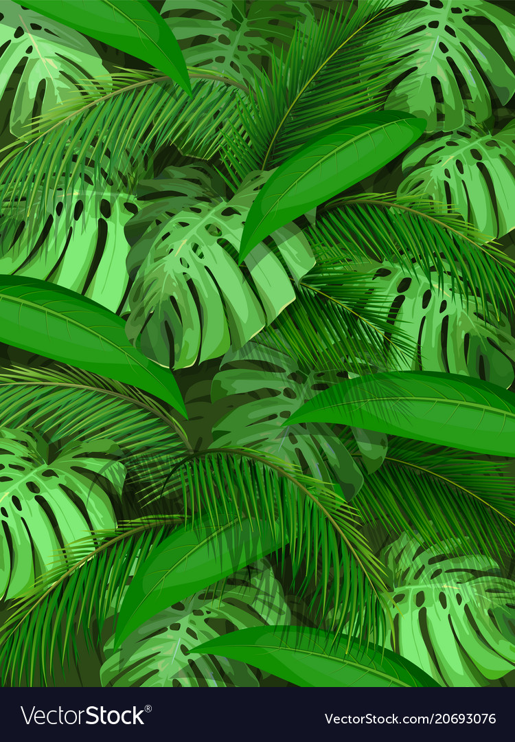 Tropical Leaf Background Royalty Free Vector Image The best selection of royalty free leaf background vector art, graphics and stock illustrations. vectorstock